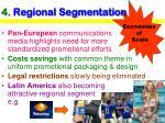 4 regional segmentation