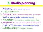 5 media planning