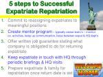 5 steps to successful expatriate repatriation