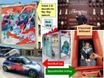 giant 3 d murals for flip flop launch bus stop