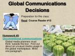 global communications decisions1