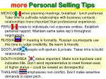 more personal selling tips