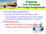 preparing u s personnel for foreign assignments