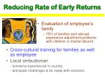 reducing rate of early returns
