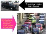 the original london black taxicab
