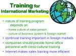 training for international marketing