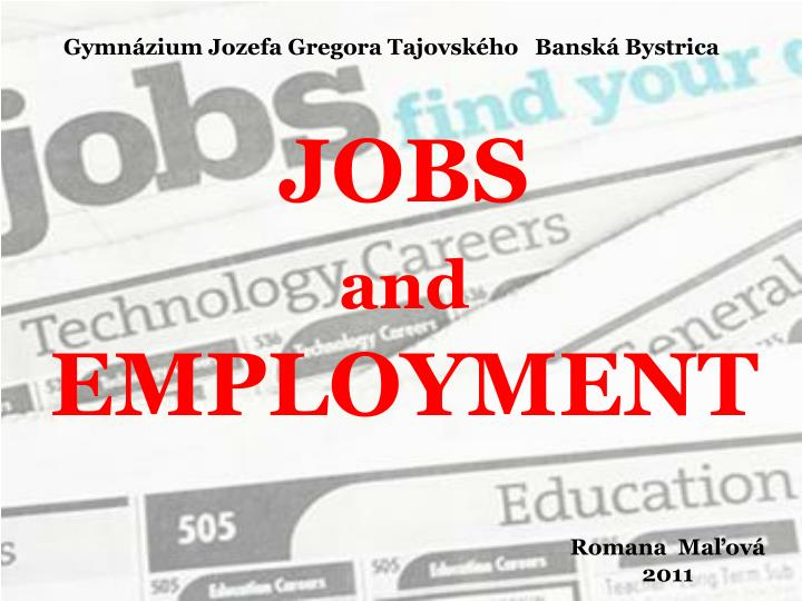 jobs and employment n.