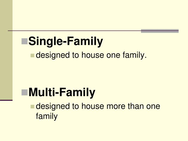 Single-Family