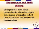 entrepreneurs and profit making