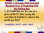 exhibit 1 average total cost and marginal cost of producing fish per fishing run1