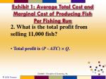 exhibit 1 average total cost and marginal cost of producing fish per fishing run2