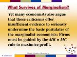 what survives of marginalism1
