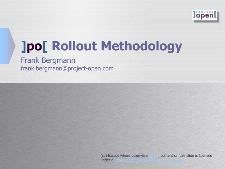 po rollout methodology n.