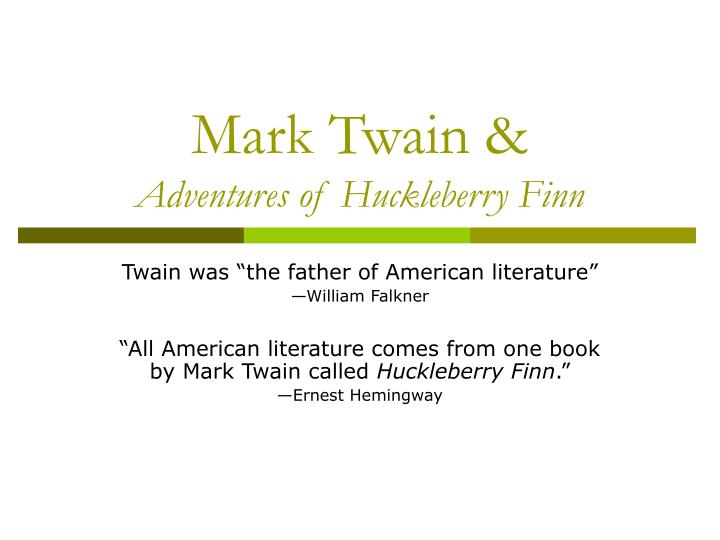 the style and structure of the adventures of huckleberry finn by mark twain Slavery in mark twain's the adventures of huckleberry finn dissertation submitted to the department of english as a partial fulfilment of the requirements for the key terms: the adventures of huckleberryfinn, mark twain, slavery practical chapter in which a literary analysis of the novel occurs to demonstrate the.