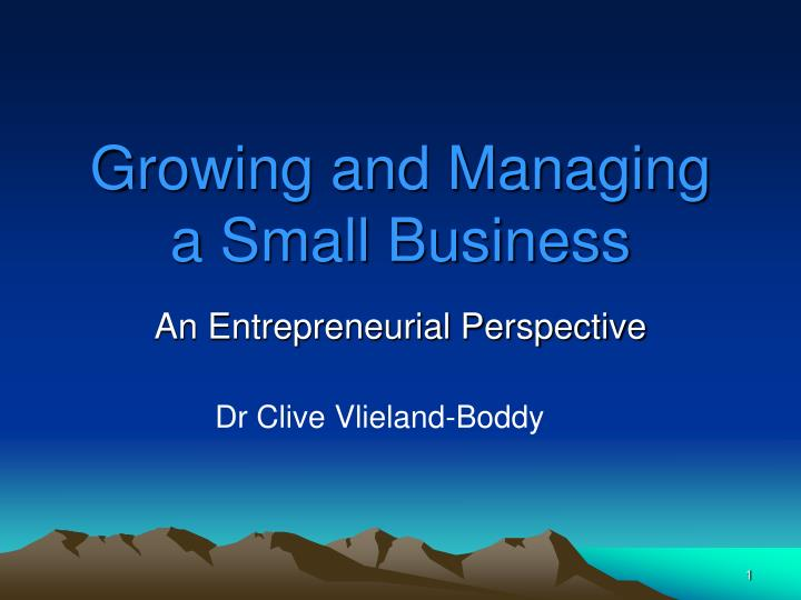 growing and managing a small business n.