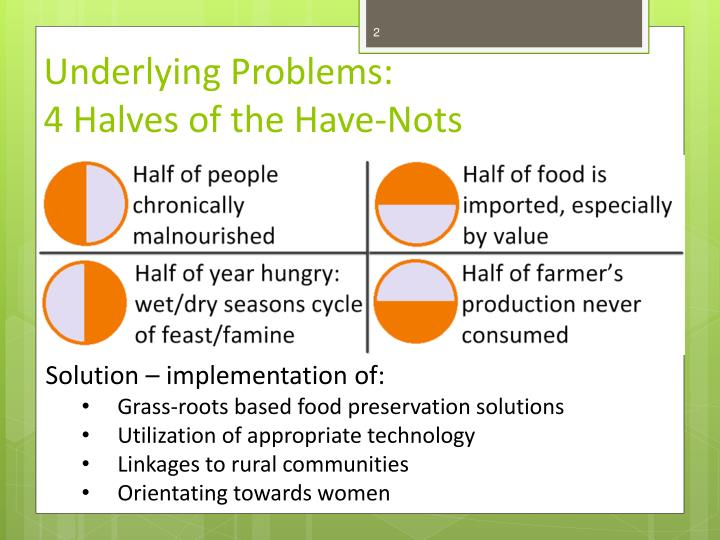 Underlying problems 4 halves of the have nots
