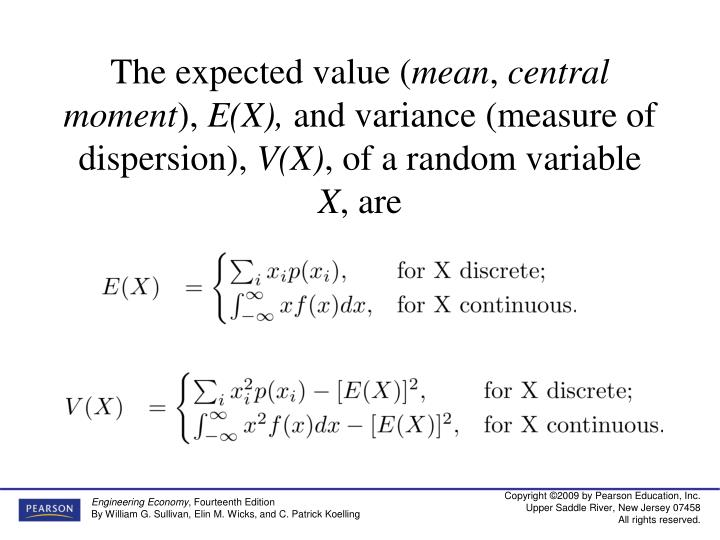 The expected value (