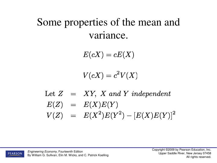 Some properties of the mean and variance.