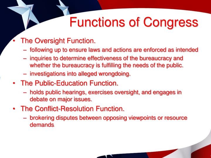 Functions of Congress