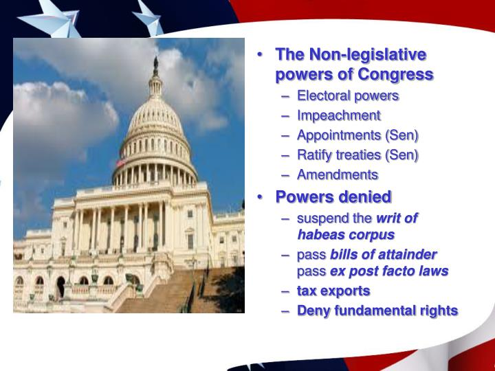 The Non-legislative powers of Congress