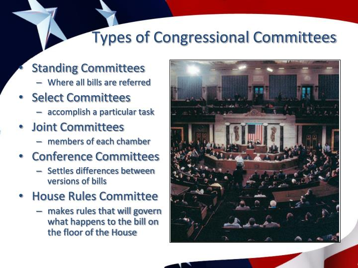 Types of Congressional Committees