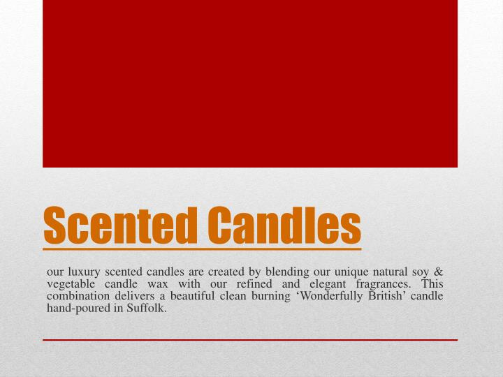 scented candles n.