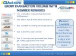 grow transaction volume with member rewards