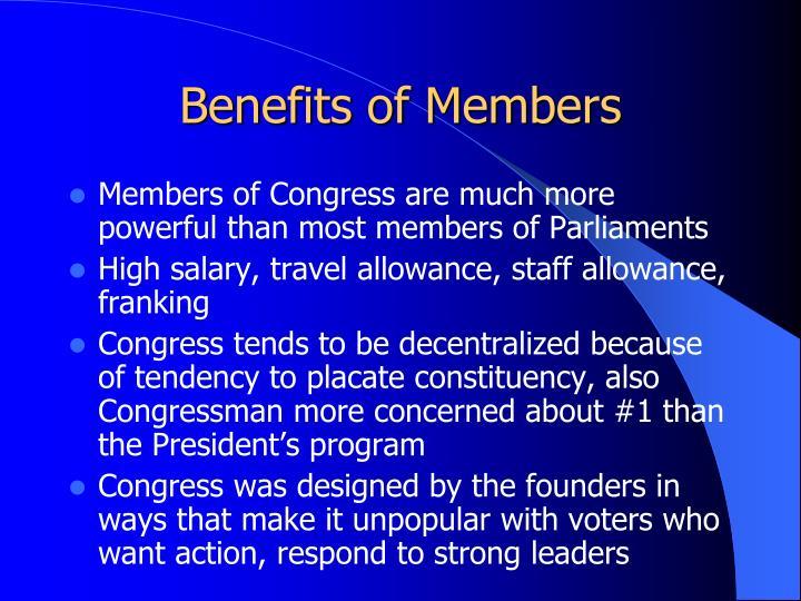 Benefits of Members