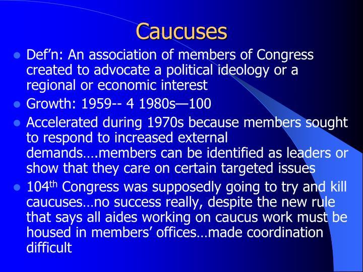Caucuses