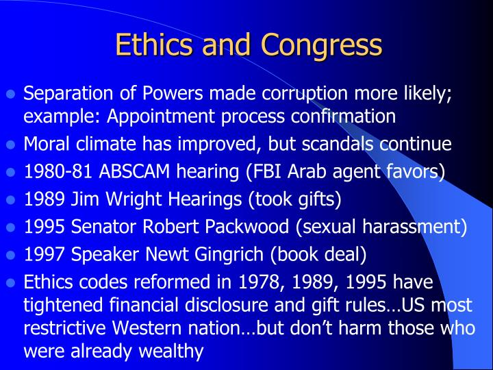 Ethics and Congress