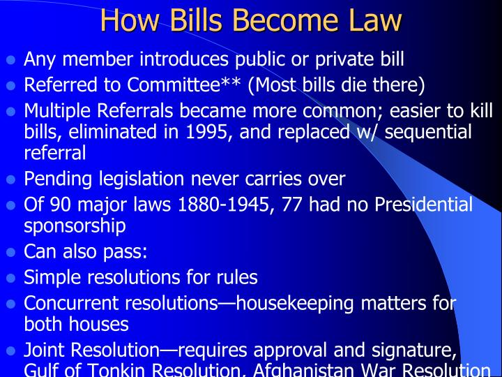 How Bills Become Law