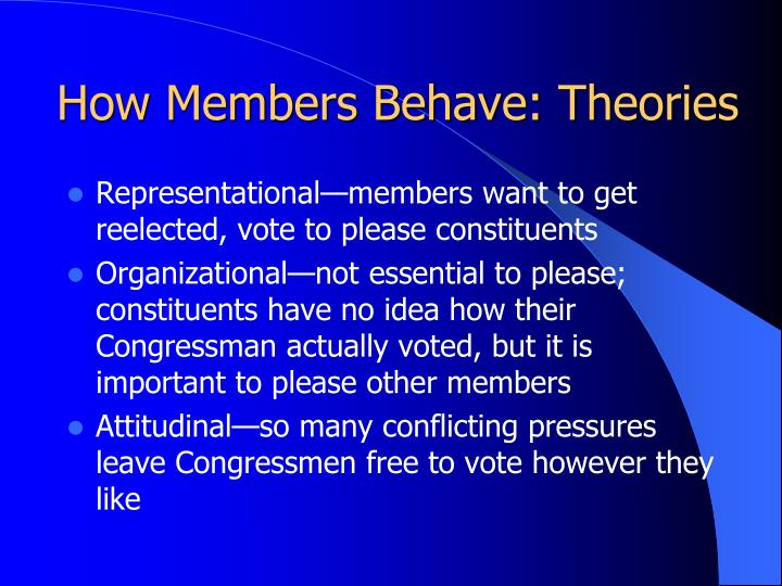 How Members Behave: Theories