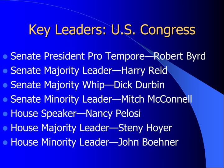 Key Leaders: U.S. Congress