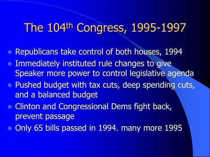 The 104 th congress 1995 1997