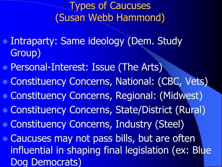 Types of Caucuses
