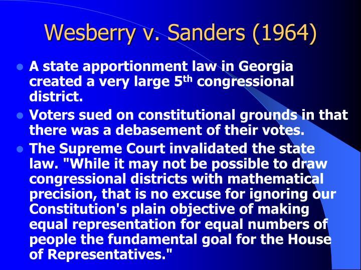 Wesberry v. Sanders (1964)