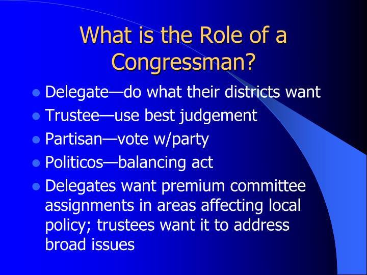 What is the Role of a Congressman?