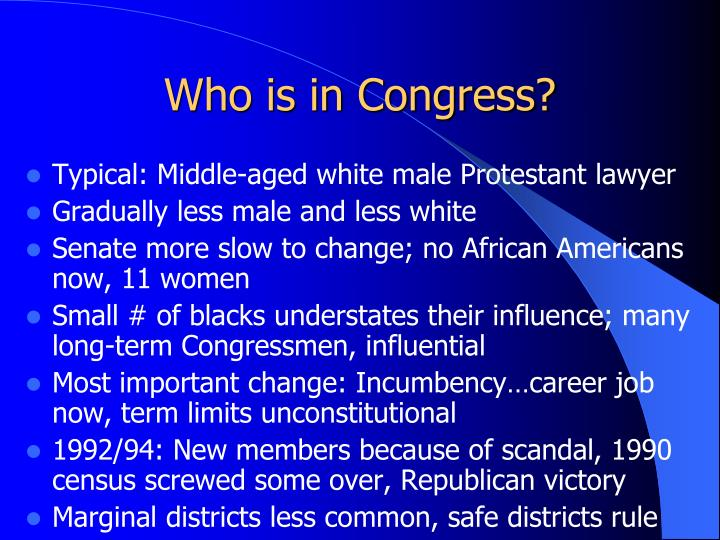 Who is in Congress?