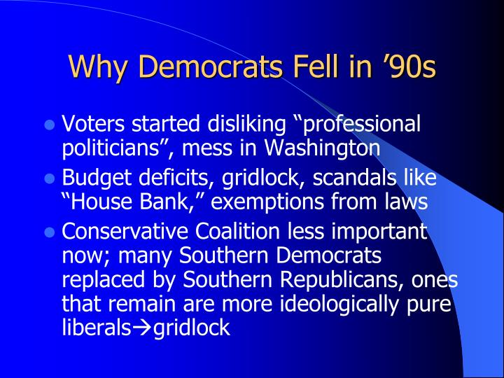 Why Democrats Fell in '90s
