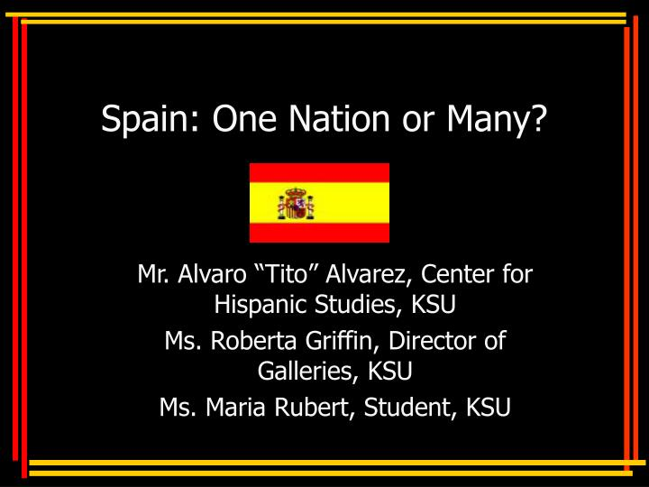 spain one nation or many n.