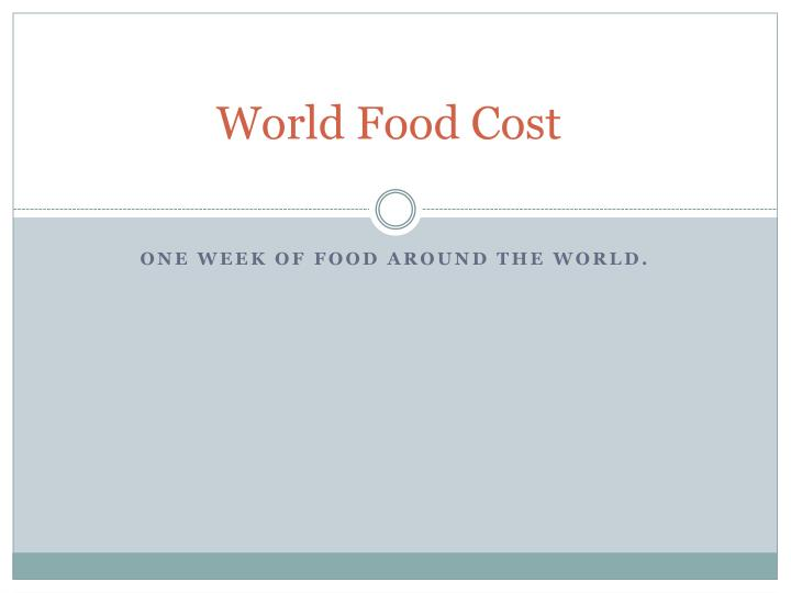 world food cost n.