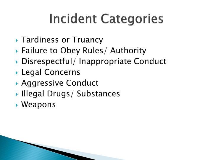 Incident Categories