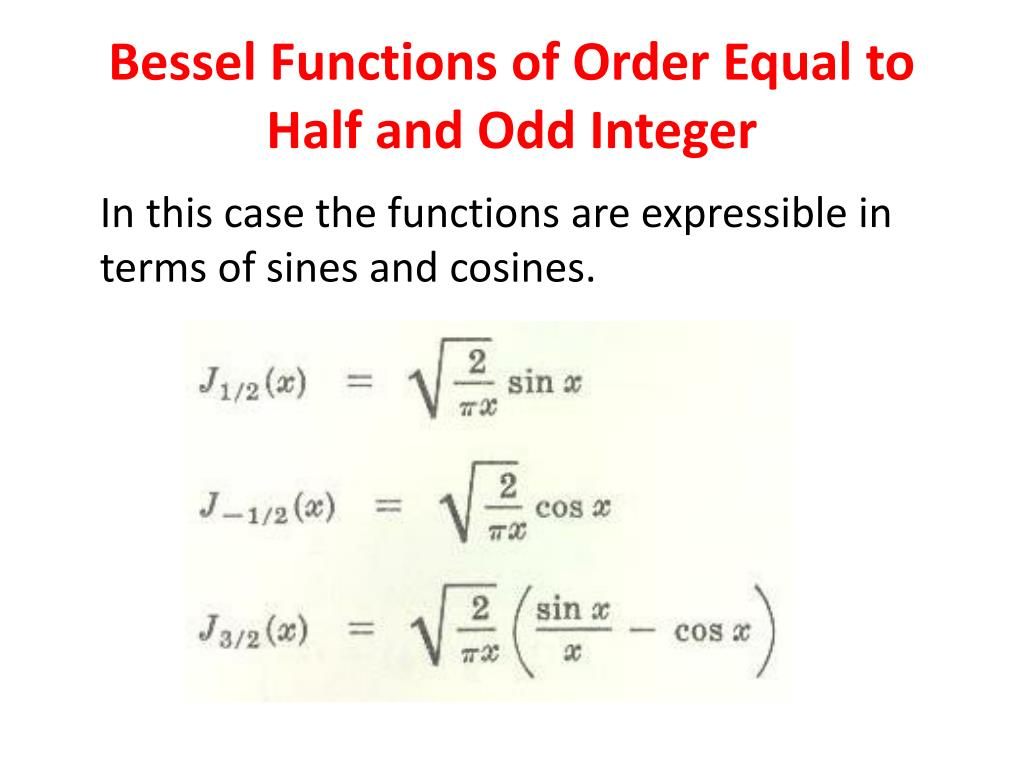 Ppt Bessel S Equation And Bessel Functions Powerpoint