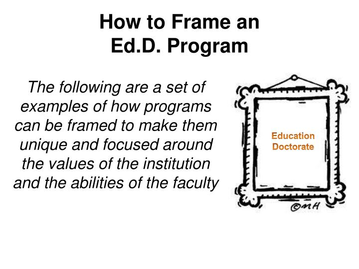 how to frame an ed d program n.
