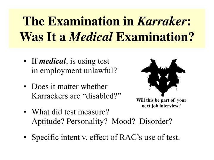 The Examination in