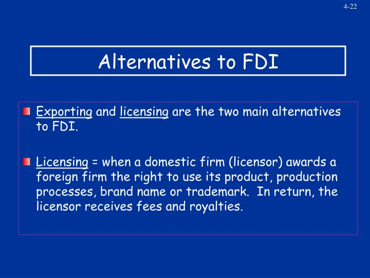 Alternatives to FDI