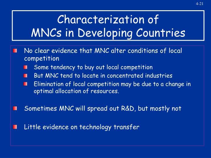 Characterization of