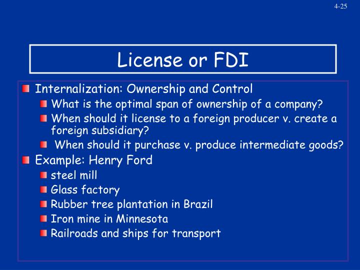License or FDI