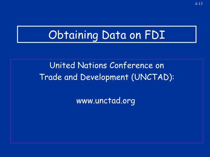 Obtaining Data on FDI