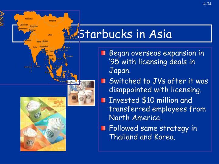 Starbucks in Asia
